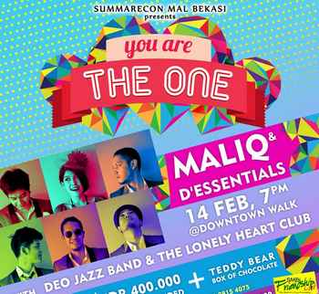 Valentine With Maliq & D'Essentials at Summarecon mall