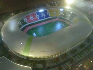 Megahnya Stadion Patriot Bekasi